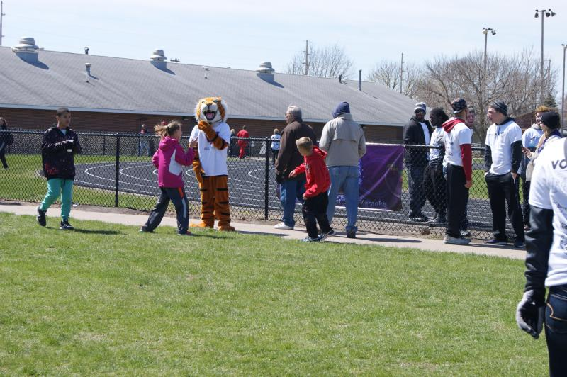 Wesley the Tiger made it out to the event