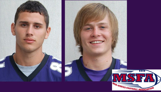Ridge Hobbs (left) and Kevin McConnell top the list of MSFA Midwest League honorees for IWC