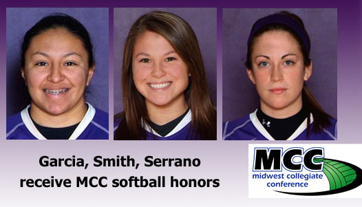 IWC All-MCC selections (from left) Sierrah Garcia, Cari Smith and Ayla Serrano